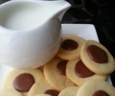 Butter Cookies with Chocolate Glaze.