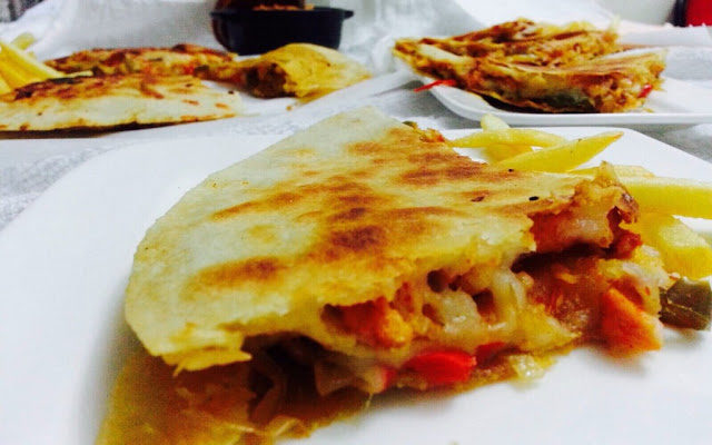Chicken & Veg Quesadilla.