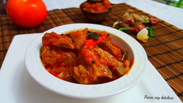 Kerala Style Beef  Roast.
