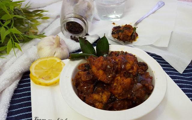 Garlic & Pepper Prawn Roast.