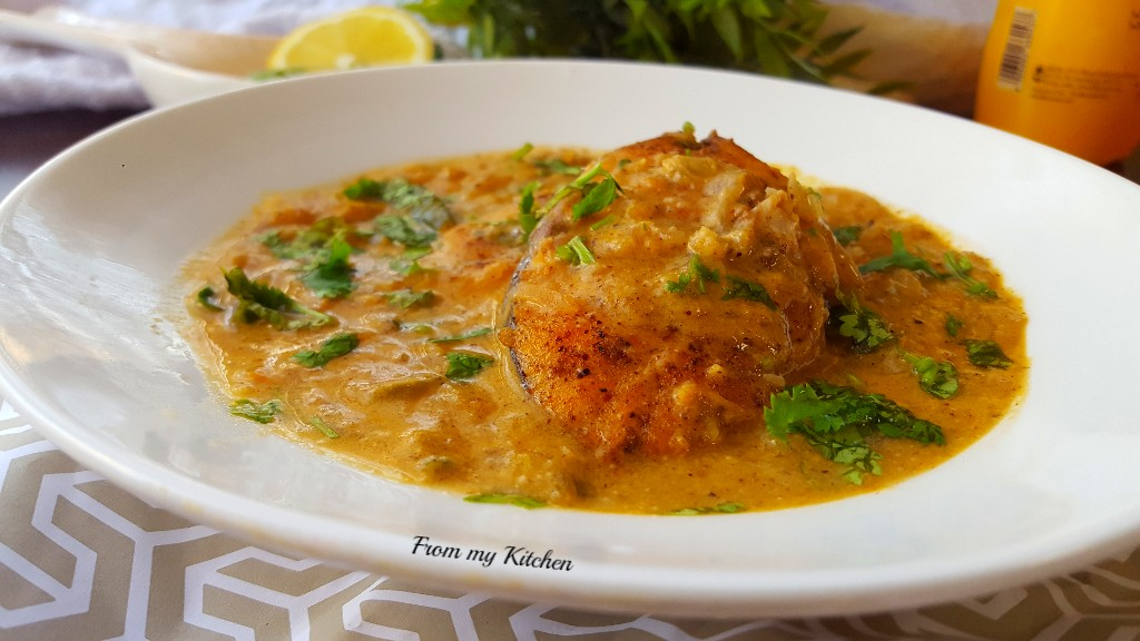 Fried Fish in Creamy Coconut sauce.