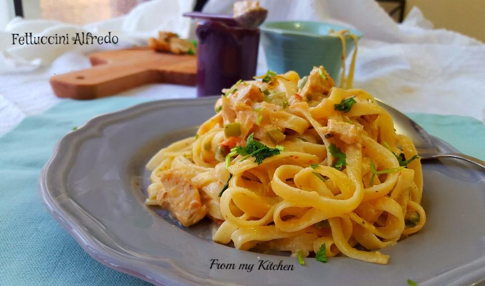 Fettuccine Alfredo Pasta.