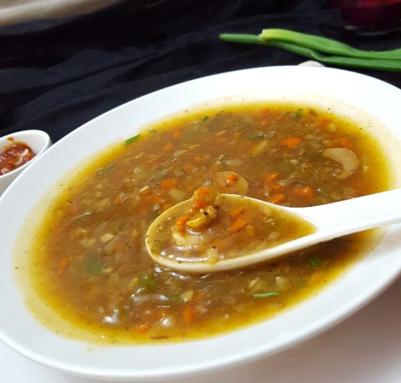 Prawn Hot & Sour Soup.