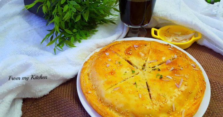 Mince & Onion Pie.