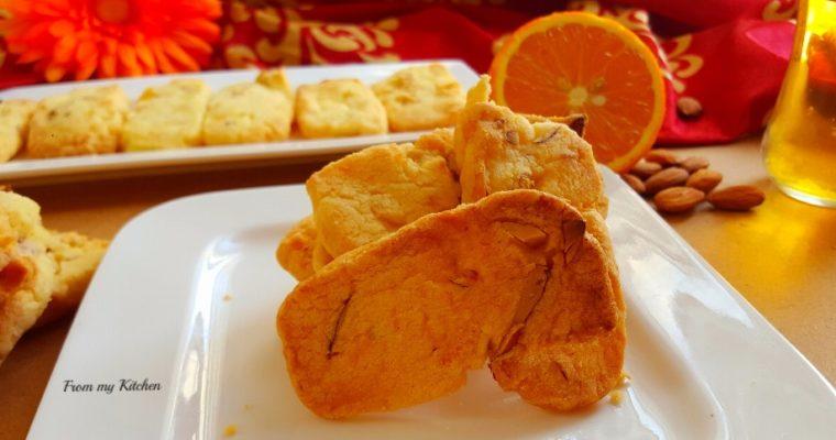 Orange & Almond Shortbread Cookie.