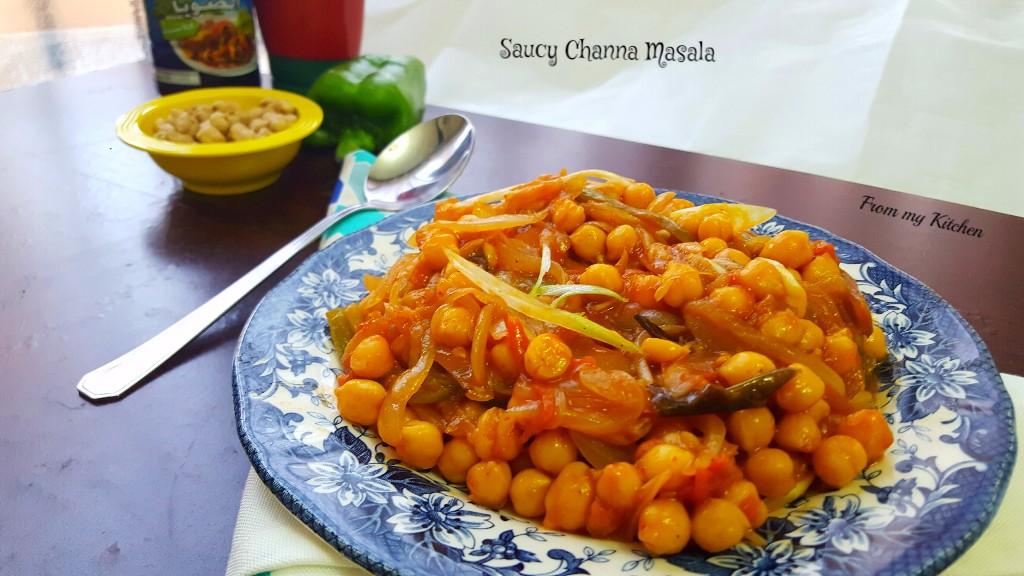 Saucy Chana Masala!