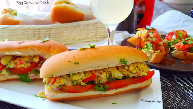 Egg Salad Sandwich!(as an Appetizer /Breakfast)
