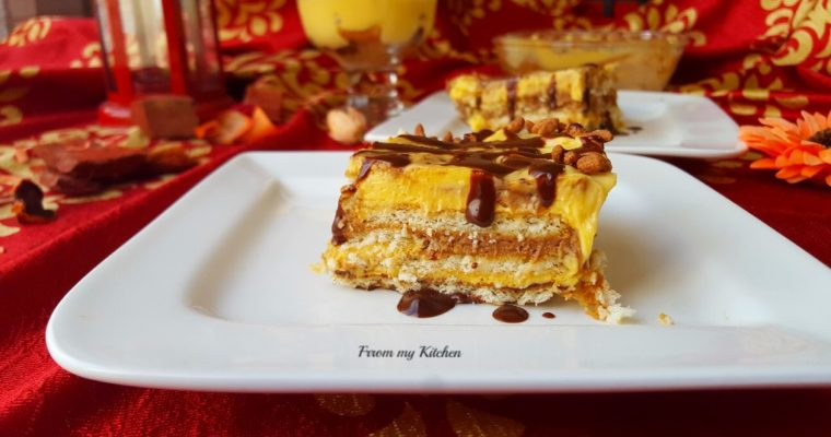 Layered Biscuit & Cream Pudding.