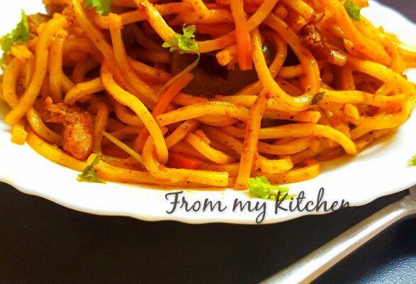Chicken Tikka Noodles