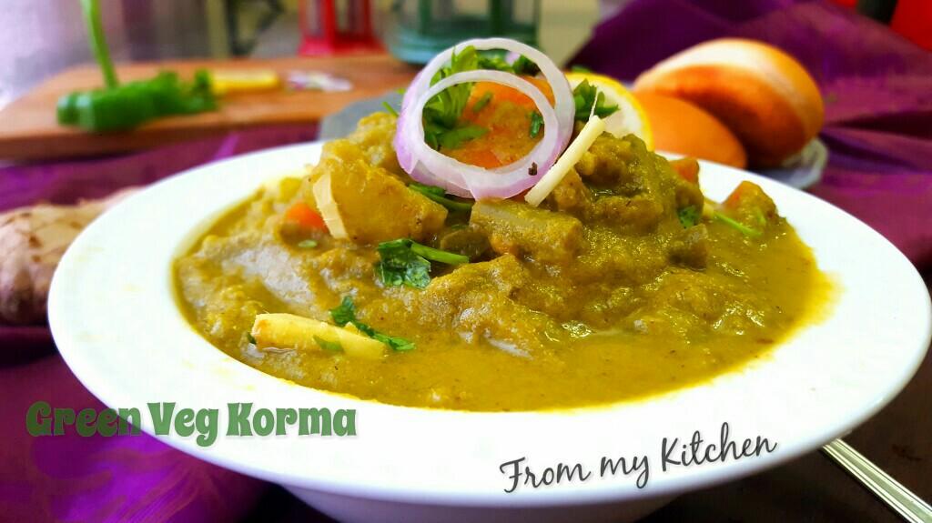 Green Veg Korma/ Hariyali Veg Korma