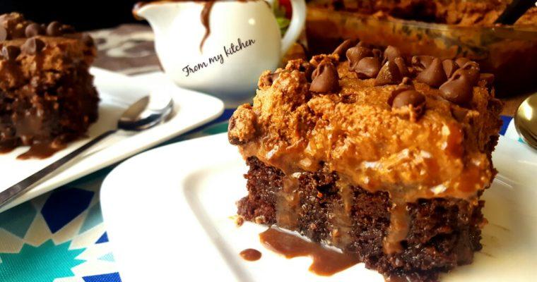 Chocolate Ferrero  Poke Cake