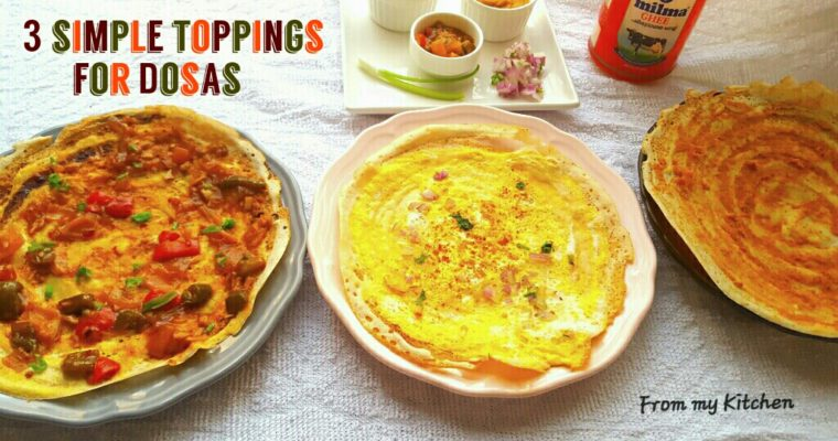 3 types of Toppings for Dosa