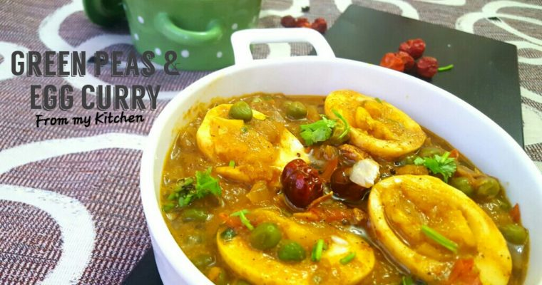 Peppery Green Peas & Egg Curry