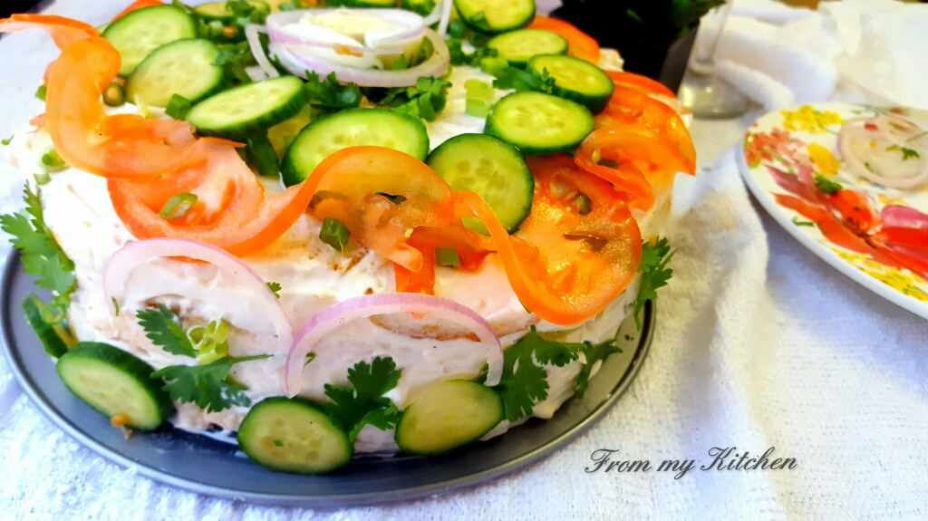 Sandwich Cake(Chicken & Veg)