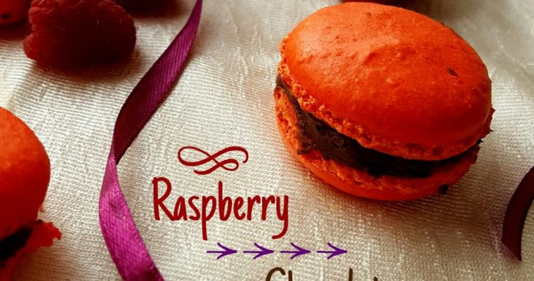 Raspberry & Chocolate Red-velvet Macaroons
