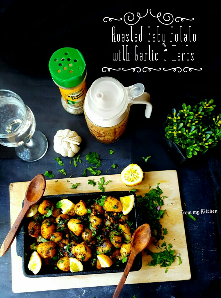 Roasted Baby Potato with Garlic and Herbs