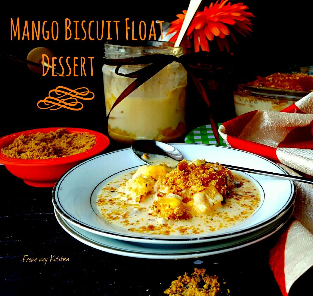 Mango Biscuit Float Dessert