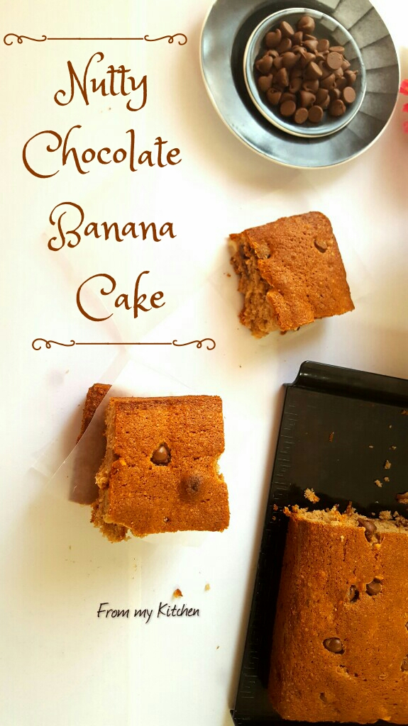 Nutty Chocolate Banana Cake