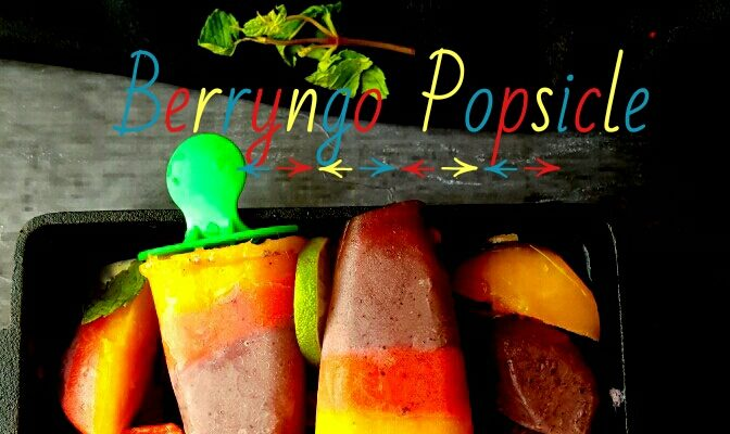 Berryngo(Berries + Mango) Popsicle