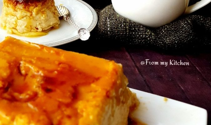 Mango Bread Flan