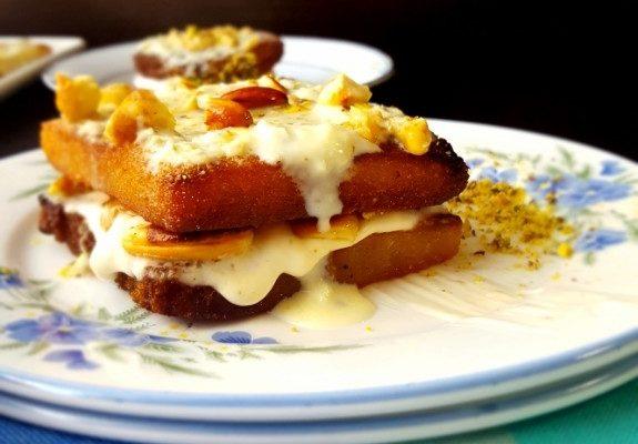 Cream Stuffed Shahi Tukda