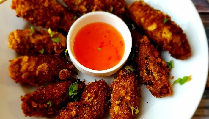 Fried Chicken Kebab