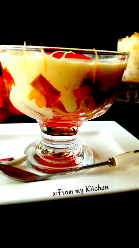 Fruits in Creamy Custard