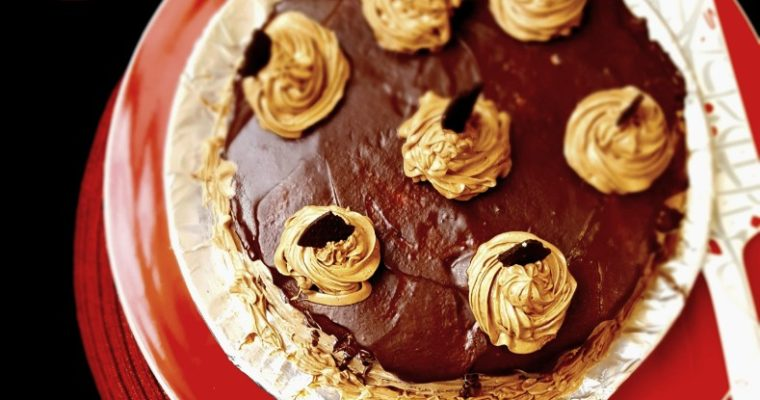 Moist Chocolate Cake with Chocolate Butter Cream Icing