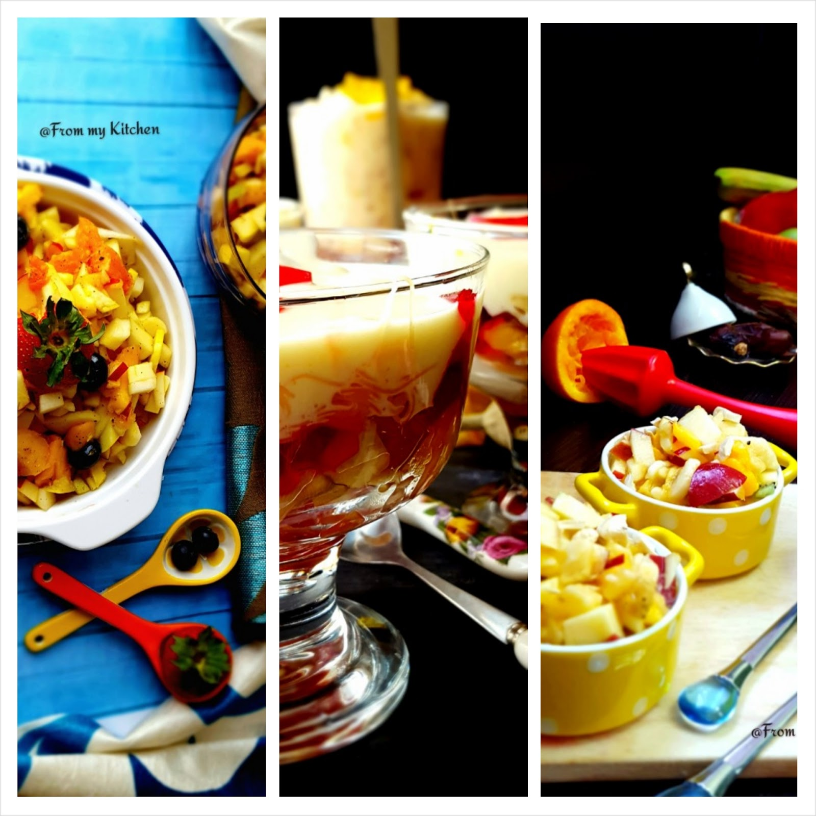 Fruit Chaats in 3 Different Ways