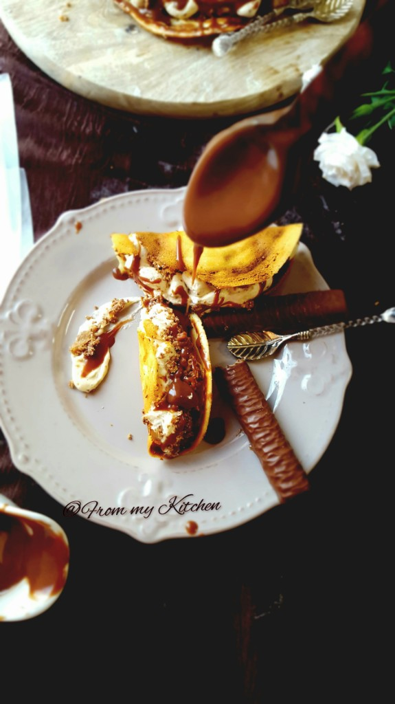 Dessert Taco with Twix Cream-A guest post for The Big Sweet Tooth