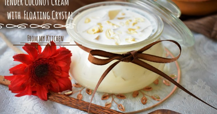 Tender Coconut Cream with Floating Crystal