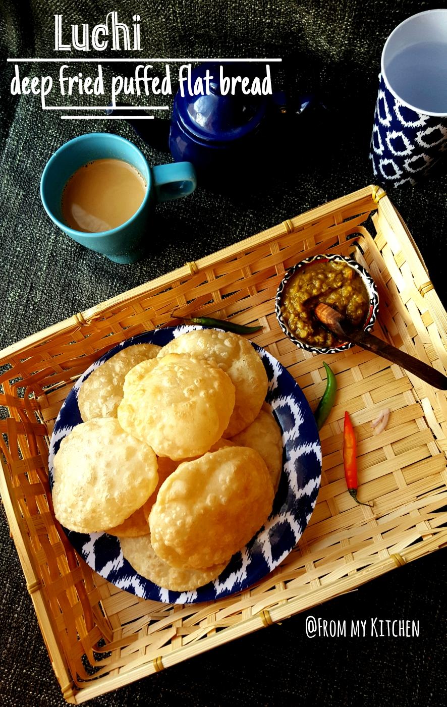 Luchi (Bengali deep fried puffy bread)