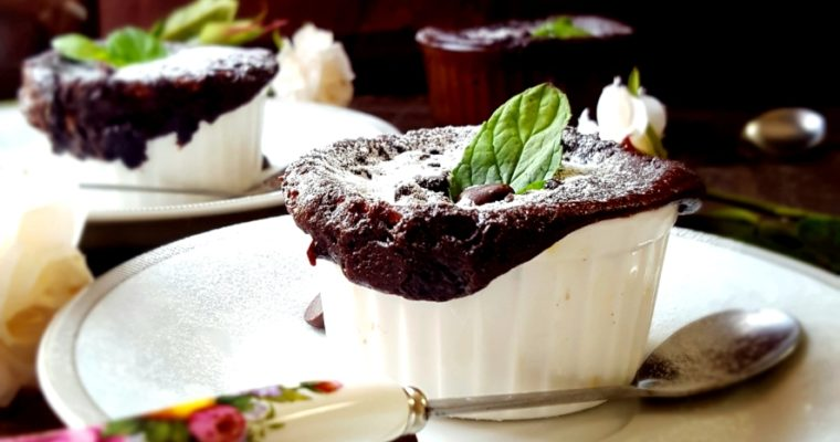 One Minute Microwave Lava Cake