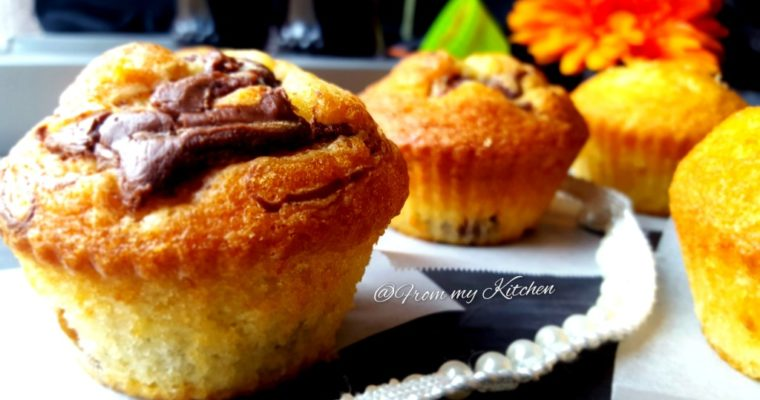 Basic Vanilla Cupcake with Nutella Self Frosting