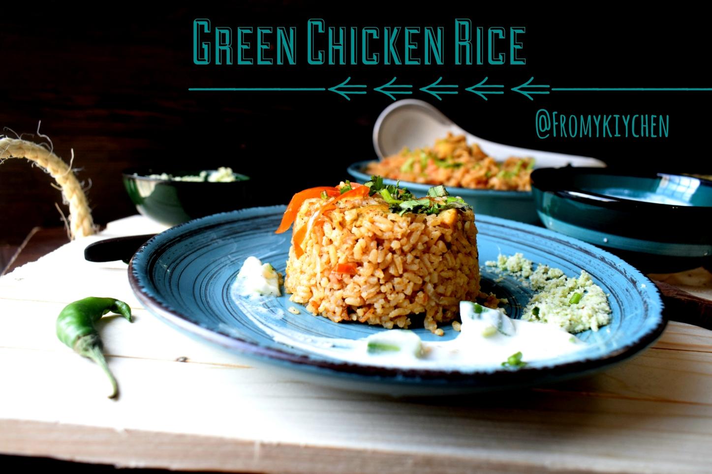 Green Chicken Rice