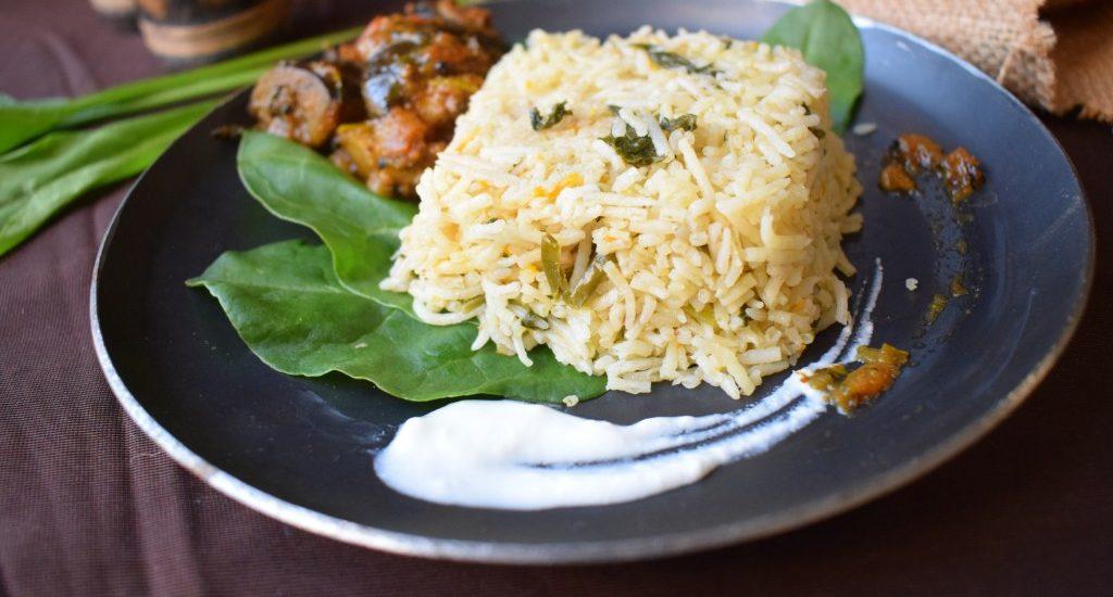 Carrot & Palak Rice