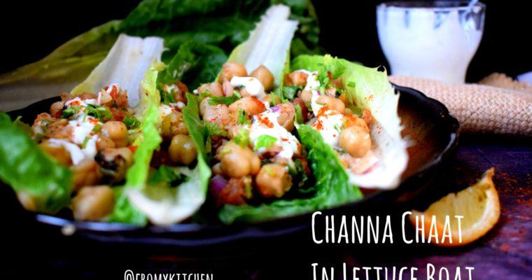 Channa Chaat in Lettuce Boat
