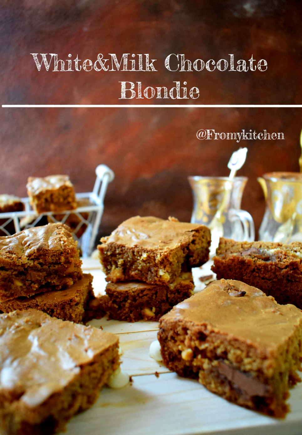 White & Milk Chocolate Blondie