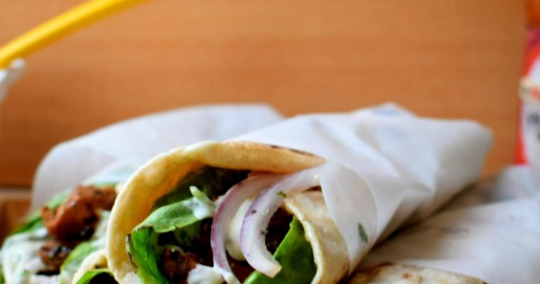 Lemon Garlic Chicken Wrap with Mayo Mustard Dressing
