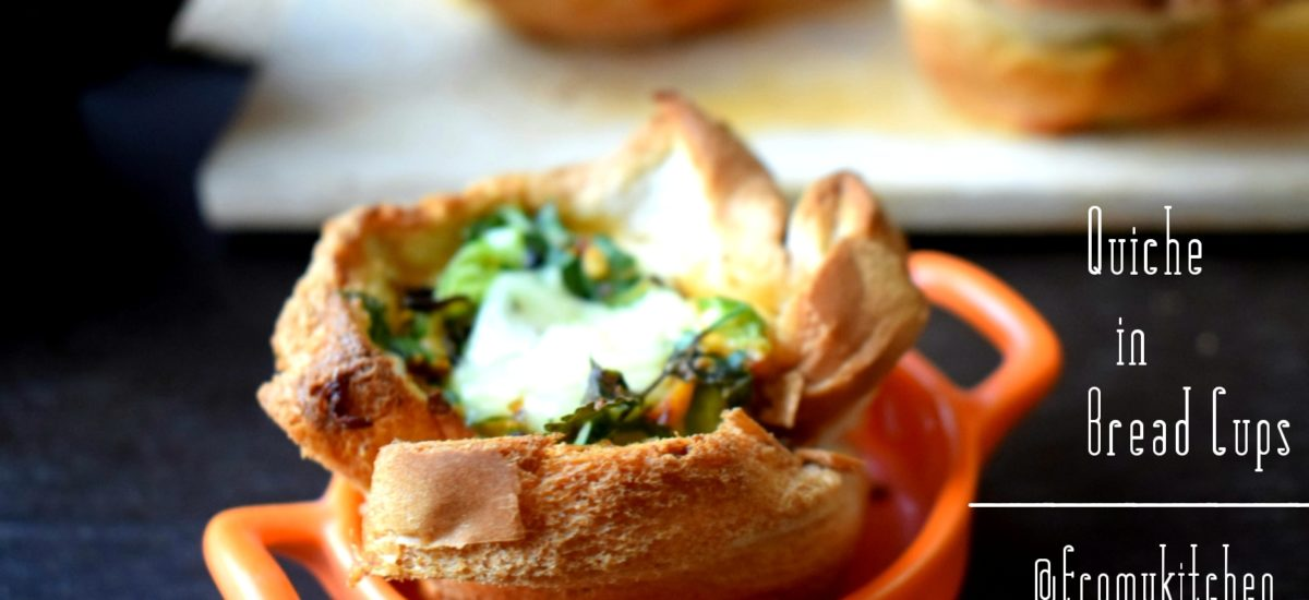 Quiche in Bread Cups