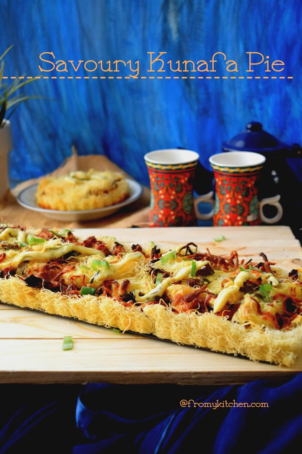 Savory Kunafa Pie