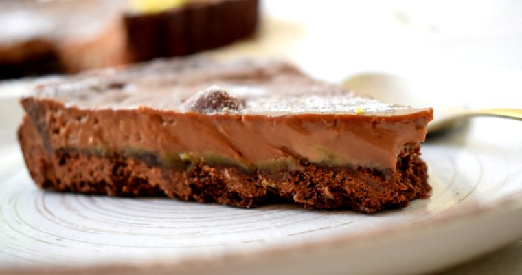 Milk Chocolate & Pistachio Tart