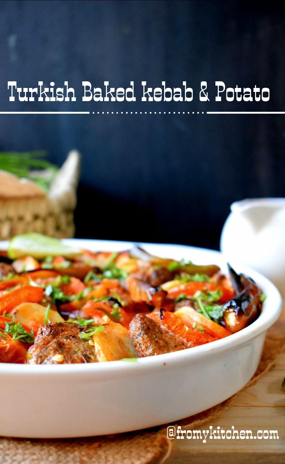 Turkish Baked Kebab & Potato in Tomato Sauce