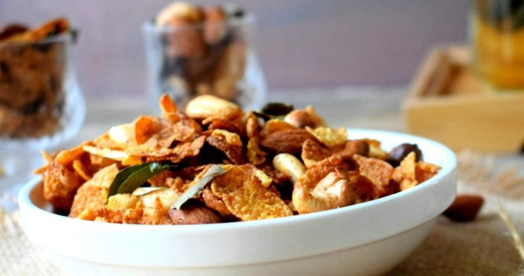 Cornflakes Chivda without Oil