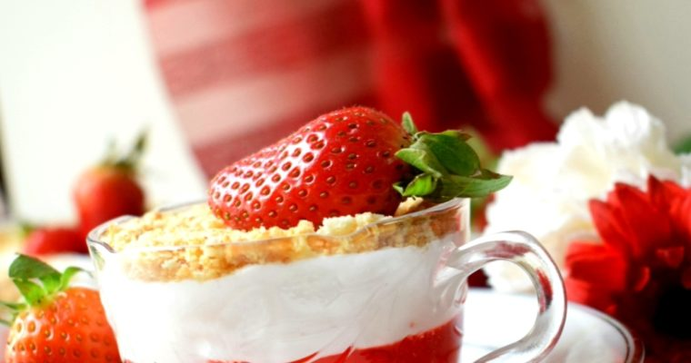 Strawberry Pie Pudding