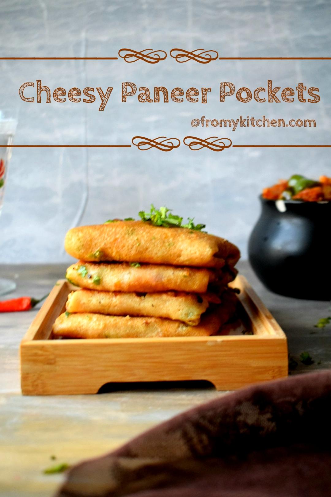 Cheesy Paneer Pockets