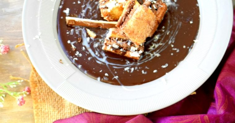 Chocolate Soup with Cinnamon Crouton