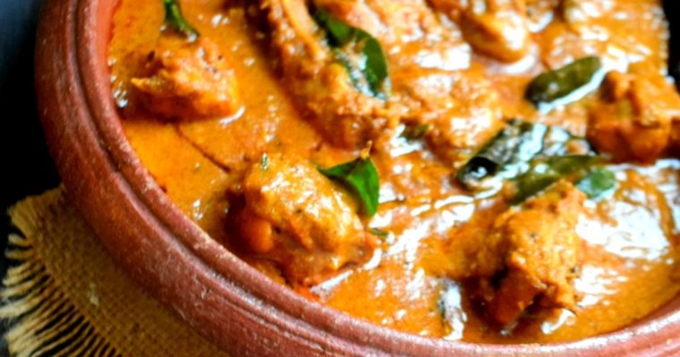 Varutharache Chicken Curry(one pot)
