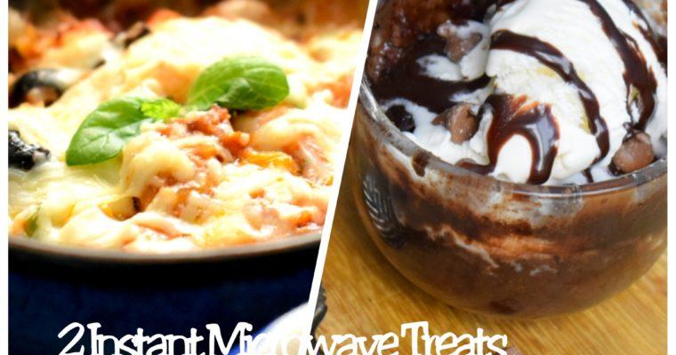 2 Microwave Recipes –Microwave Pizza & Brownie