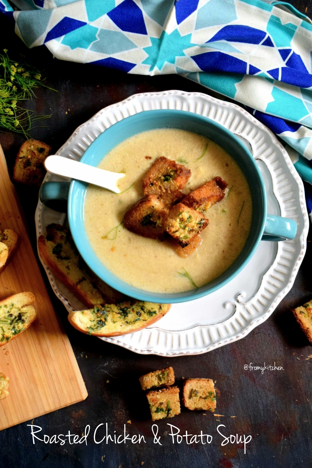 Roasted Chicken & Potato Soup